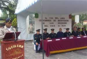 Inicia el adiestramiento del Servicio Militar Nacional