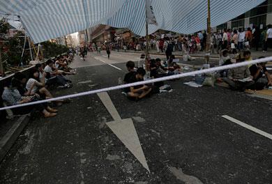 Manifestantes aceptan negociar con gobierno de HK
