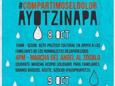 Marcha nacional por los normalistas de Ayotzinapa