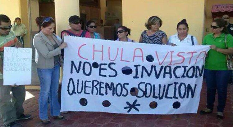 Reubicación exigen vecinos de Chulavista