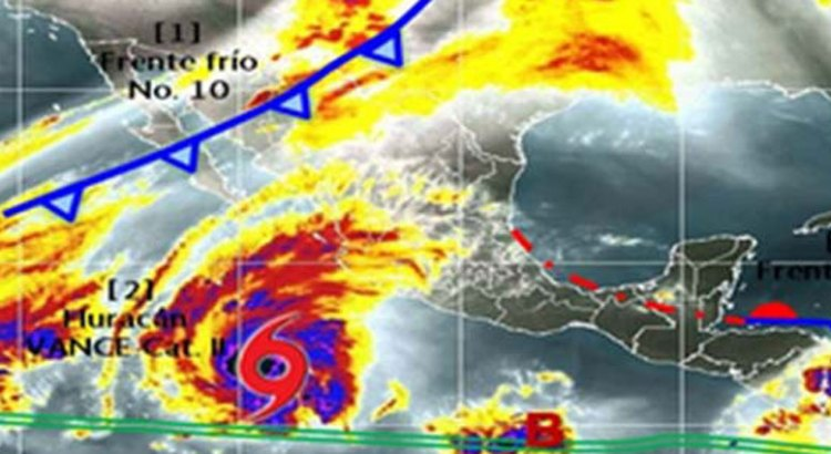 Vance ya es huracán categoría II