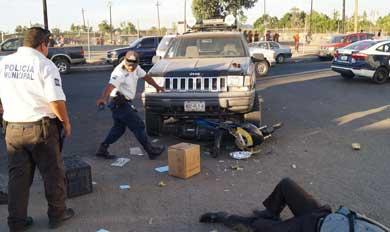 Arrollaron a motociclista en la Pueblo Nuevo