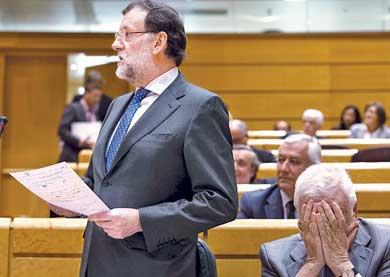 Se le rajaron a Rajoy