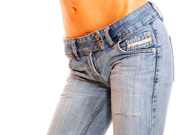 Sus jeans la dejaron paralizada