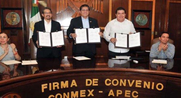 Ratifica UABCS convenio con el Consorcio Mexicano de Estudios APEC