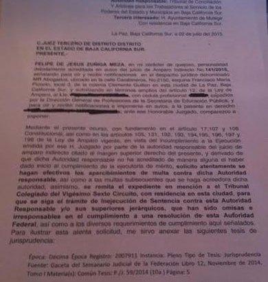 Se quejan del titular del Tribunal Burocrático