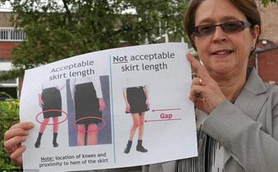No a las minifaldas en el colegio