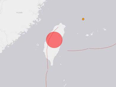 Temblor de magnitud 6.8 remece Taiwán