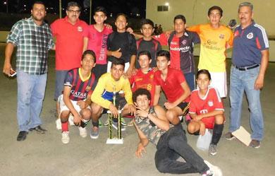 Finales de fútbol de sala en Santa Rosalía