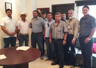 Se reunió Barroso con Ejidatarios de La Paz