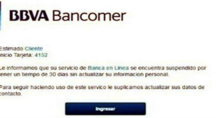 Alertan sobre fraude de banca en línea