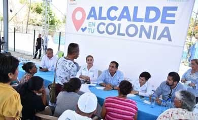 """Cumple """"Alcalde en tu colonia"""" con necesidades de los ciudadanos"""