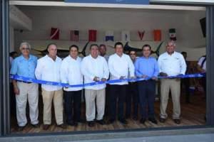 Inauguración del kiosco electrónico de expedición instantánea de Permisos de Pesca Deportiva que se encuentra instalado en el área de la Marina de Cabo San Lucas