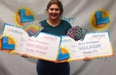 Gana latina la lotería de California
