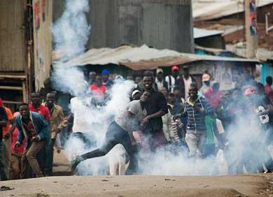 Estallan protestas en Kenia
