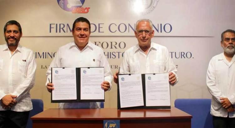 Acuerdan alianza estratégica la UABCS y la Academia Mexicana de Criminología