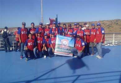 Asisten jóvenes a torneo de beisbol antorchista
