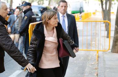Ingresará en la cárcel presidenta del Parlamento catalán