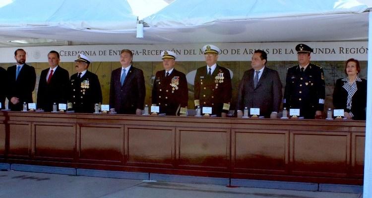Asiste CMD al cambio de mando de la Segunda Región Naval