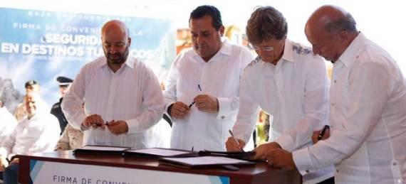 firma del convenio de Coordinación de Acciones en Materia de Seguridad Publica