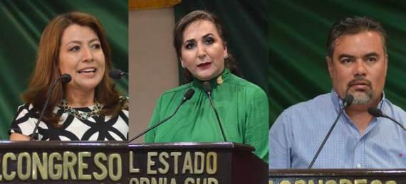Eda Palacios Márquez, Guadalupe Saldaña y Marco Almendáriz Puppo solicitaron este martes, una licencia temporal