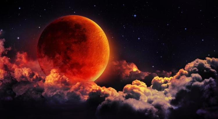 Miércoles de superluna de sangre azul
