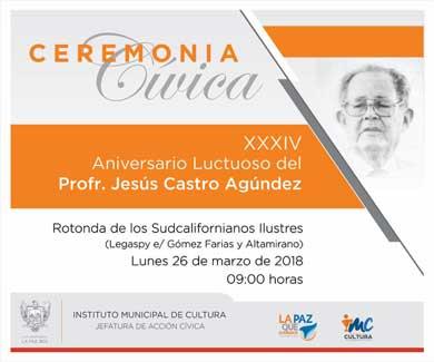 Recordarán a Jesús Castro Agúndez