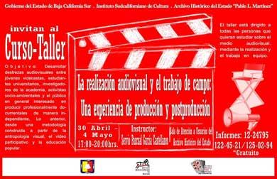 Invitan a curso de audiovisuales