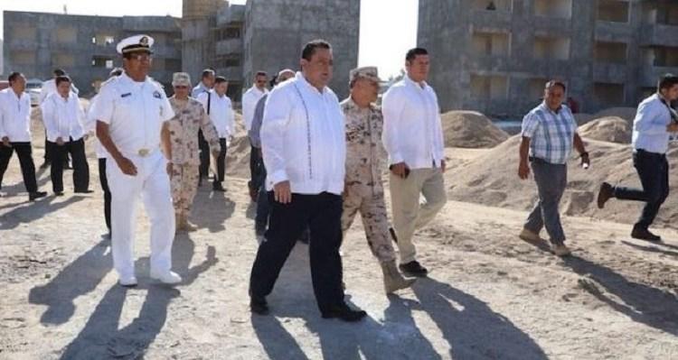 Visita gobernador el Batallón de Ingenieros de Combate en La Paz