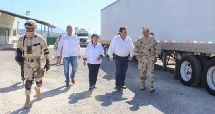 Realiza Carlos Mendoza visita de supervisión al Punto de Revisión Secundaria de San Ignacio