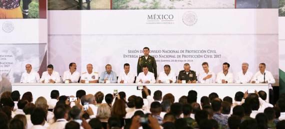 Sesión del Consejo Nacional de Protección Civil, en reunión nacional que se realizó en el puerto de Acapulco Guerrero