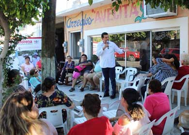 Vecinos de Los Olivos se reúnen con Rubén Muñoz