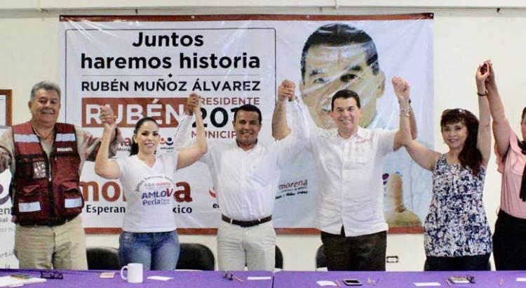 Se une Regidor Jorge Barrón a campaña de Rubén Muñoz