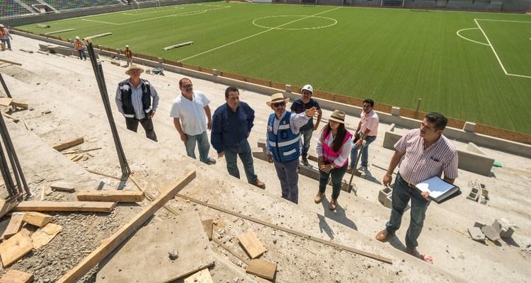 Supervisa gobernador avances del estadio Guaycura