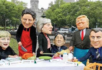 El G7, cerca de quedarse en G6