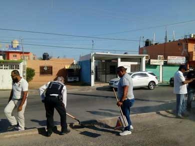 Jornada de limpieza en las colonias Acuario, Bugambilias y Arcoiris