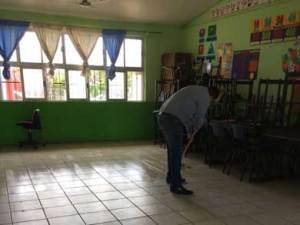 limpieza de las aulas