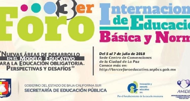 Participarán más de cinco mil docentes en el III Foro Internacional de Educación Básica y Normal: SEP
