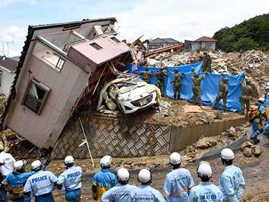 Suman 209 los muertos por las inundaciones en Japón