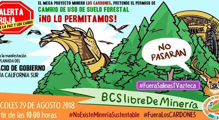 Convocan a manifestación contra la minería