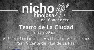 Nicho Hinojosa en el Teatro de la Ciudad