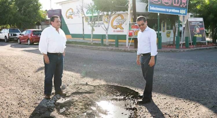 Anuncia Gobernador programa emergente de bacheo