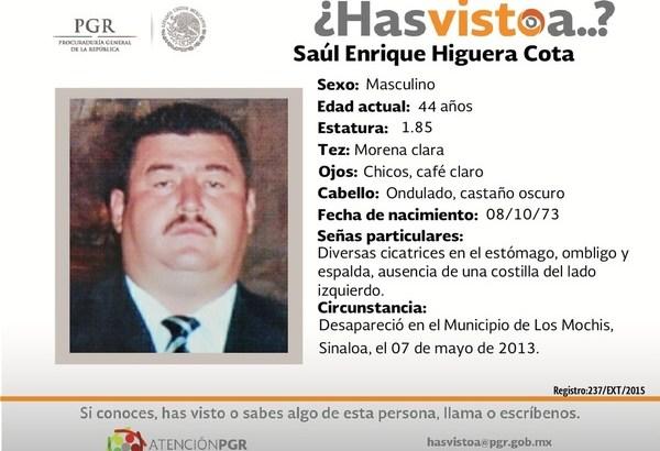 ¿Has visto a Saúl Enrique Higuera?