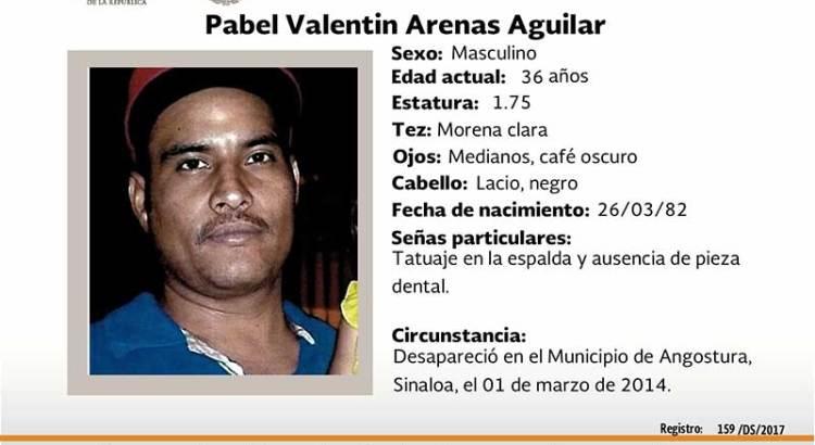 ¿Has visto a Pabel Valentín Arenas?