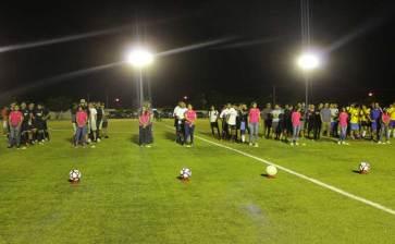 Inauguran  Liga de Futbol en La Ribera