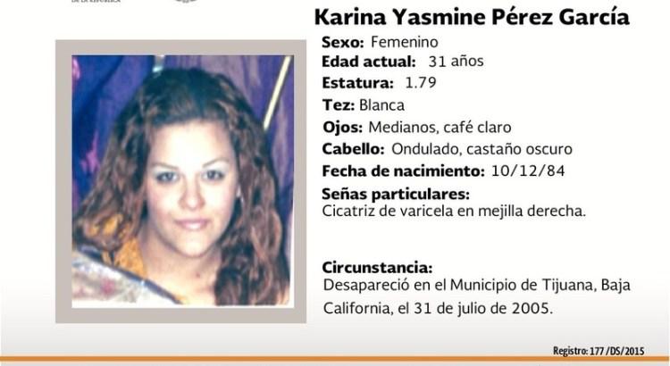 ¿Has visto a Karina Yasmine Pérez García?