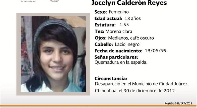 ¿Has visto a Jocelyn Calderón Reyes?