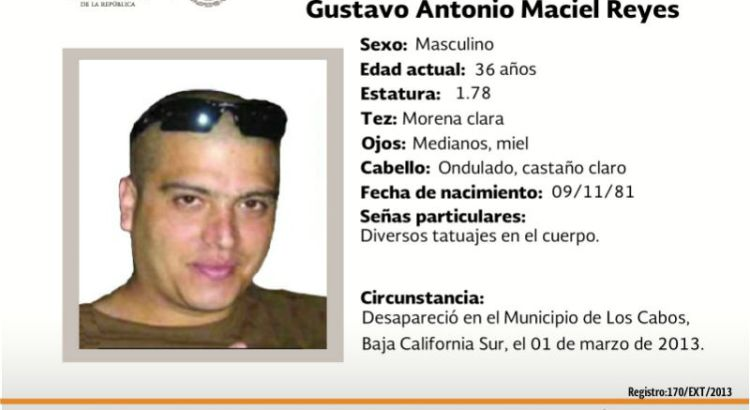 ¿Has visto a Gustavo Maciel Reyes?