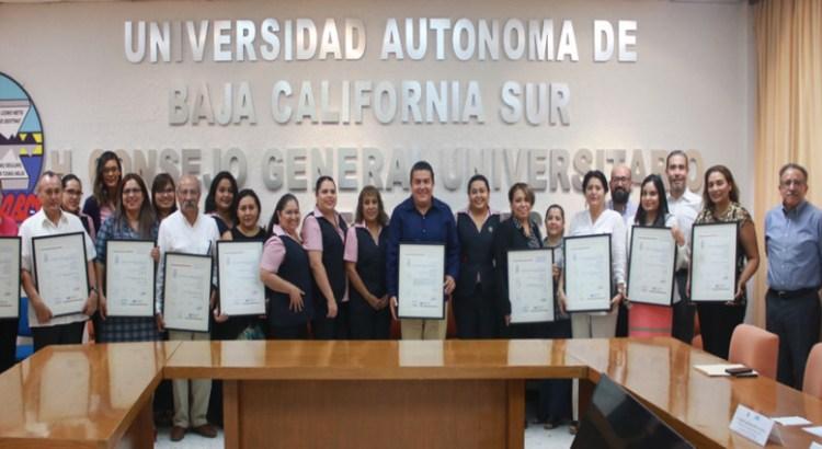 Reconocen calidad de los servicios administrativos y de gestión de la UABCS