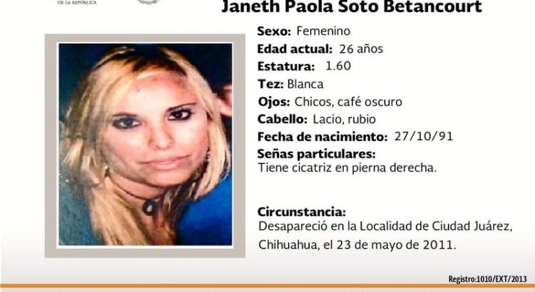 ¿Has visto a Janeth Paola Soto Betancourt?